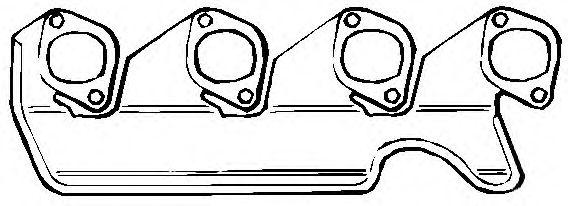 Прокладка, выпускной коллектор ELRING арт. 343847