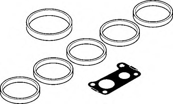 Комплект прокладок з різних матеріалів Elring 131810