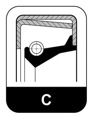 Уплотняющее кольцо, ступица колеса ELRING арт. 042773