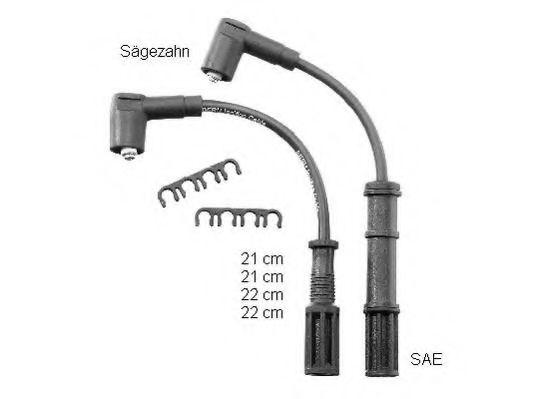 Комплект проводов зажигания BERU арт. ZEF1598
