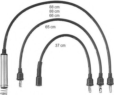 Комплект проводов зажигания BERU арт.