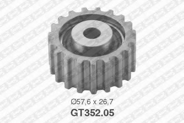 Натяжной ролик, ремень ГРМ SNR арт. GT35205