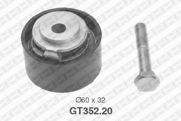 Натяжной ролик, ремень ГРМ SNR арт. GT35220