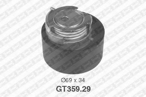 Натяжной ролик, ремень ГРМ SNR арт. GT35929