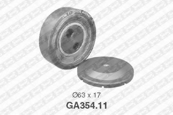 Натяжной ролик, поликлиновой  ремень SNR арт. GA35411