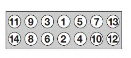 Комплект болтов головки цилидра PAYEN арт. HBS543