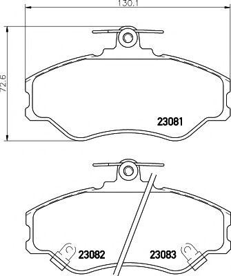 Комплект тормозных колодок, дисковый тормоз PAGID арт.