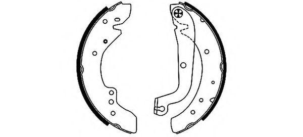 Комплект тормозных колодок PAGID арт.