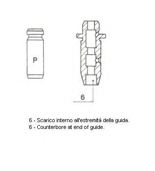 Направляющая втулка клапана METELLI арт. 012850