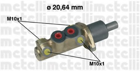 Главный тормозной цилиндр METELLI арт. 050039