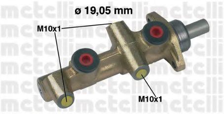 Циліндр гальмівний головний Metelli 050138
