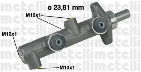 Циліндр гальмівний головний Metelli 050159