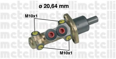 Циліндр гальмівний головний Metelli 050207