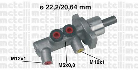 Циліндр гальмівний головний Metelli 050383