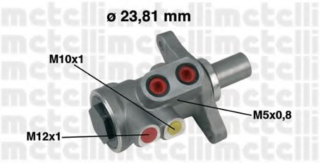 Циліндр гальмівний головний Metelli 050448