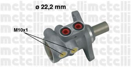 Циліндр гальмівний головний Metelli 050532