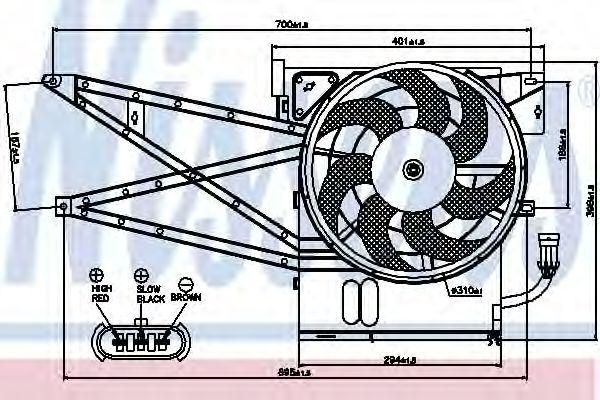 Вентилятор, конденсатор кондиционера NISSENS арт. 85017