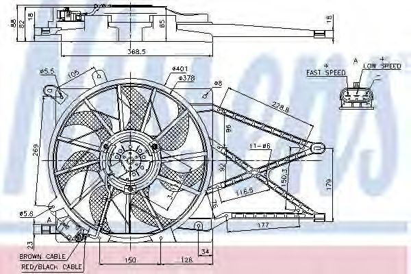 Вентилятор, охлаждение двигателя NISSENS арт. 85185