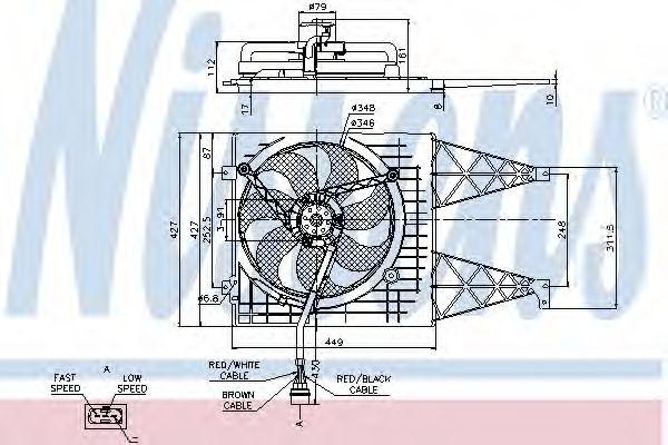 Вентилятор, охлаждение двигателя NISSENS арт.