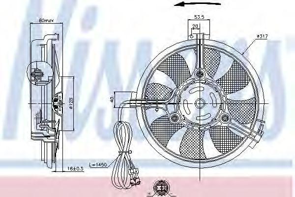 Вентилятор, конденсатор кондиционера NISSENS арт.