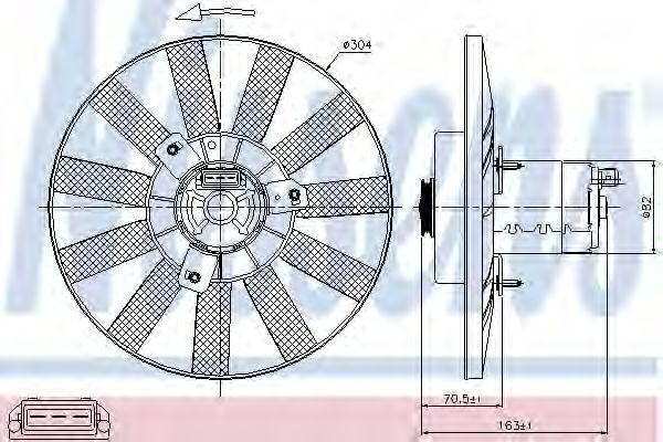 Вентилятор, охлаждение двигателя NISSENS арт. 85539