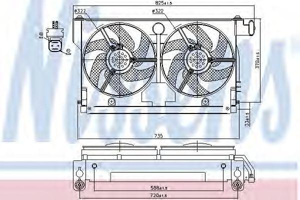 Вентилятор, охлаждение двигателя NISSENS арт. 85661