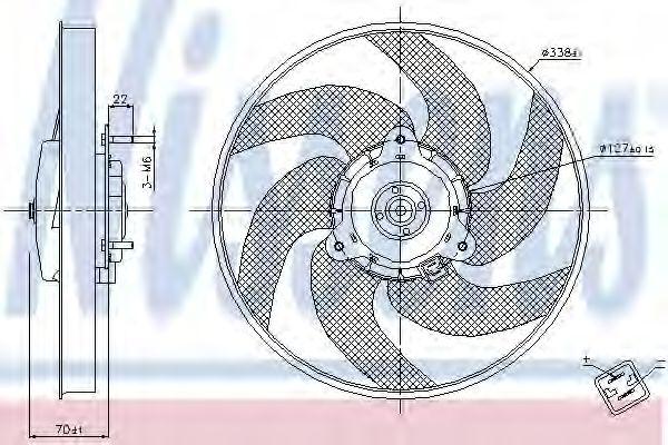 Вентилятор, охлаждение двигателя NISSENS арт. 85667