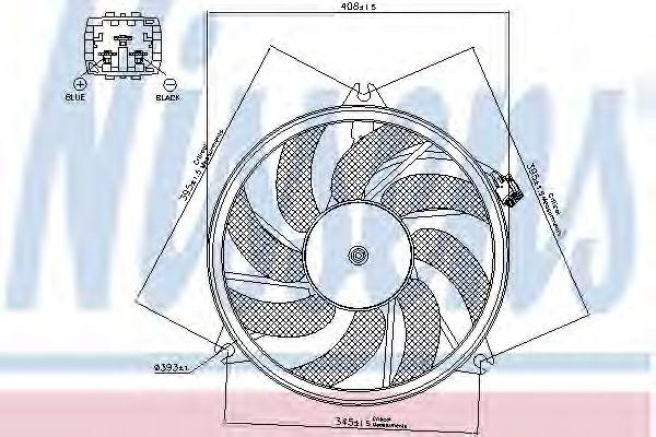Вентилятор, охлаждение двигателя NISSENS арт. 85671