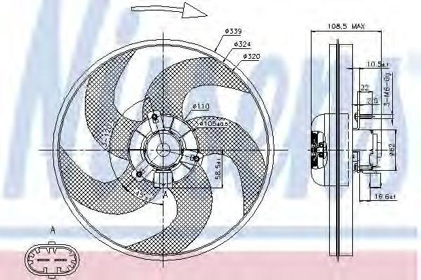 Вентилятор, охлаждение двигателя NISSENS арт. 85672