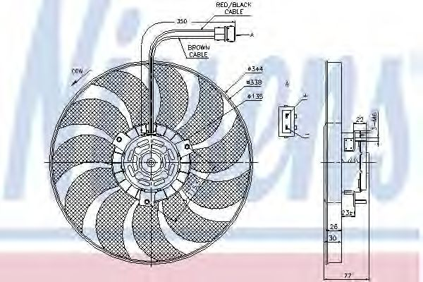 Вентилятор, охлаждение двигателя NISSENS арт. 85676