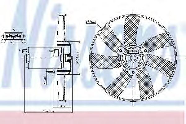 Вентилятор, охлаждение двигателя NISSENS арт. 85677