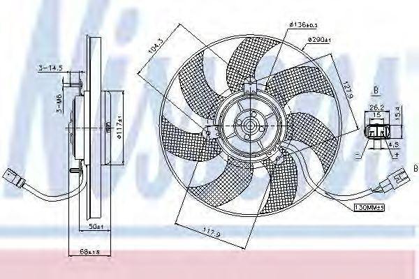 Вентилятор, охлаждение двигателя NISSENS арт. 85680