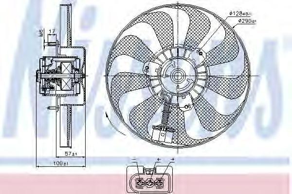 Вентилятор, охлаждение двигателя NISSENS арт. 85684