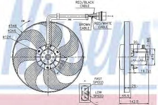 Вентилятор, охлаждение двигателя NISSENS арт. 85686
