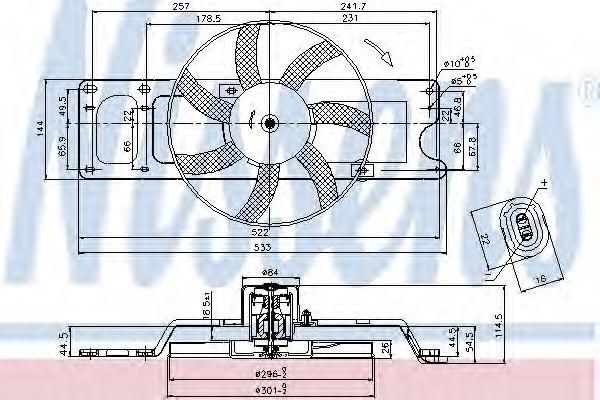 Вентилятор, охлаждение двигателя NISSENS арт. 85712