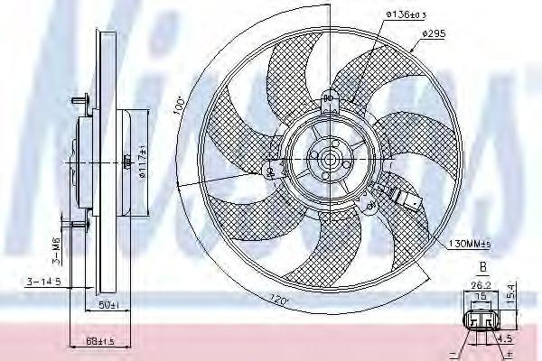 Вентилятор, охлаждение двигателя NISSENS арт. 85733