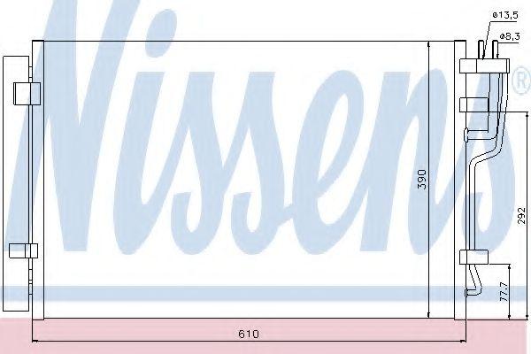 Конденсер кондиціонера Nissens 940006