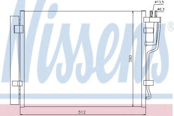 Конденсер кондиціонера Nissens 940007