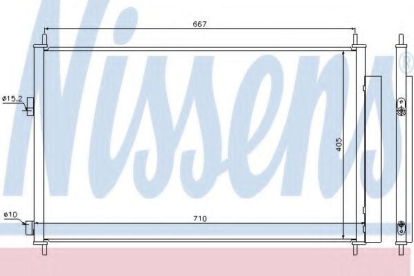 Конденсатор, кондиционер NISSENS арт. 940021