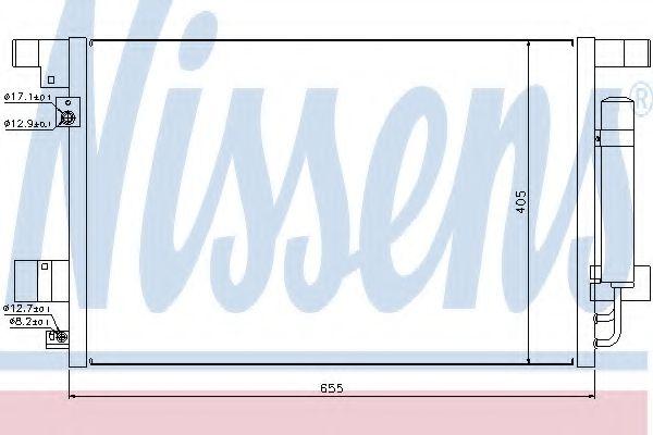 Конденсер кондиціонера Nissens 940029