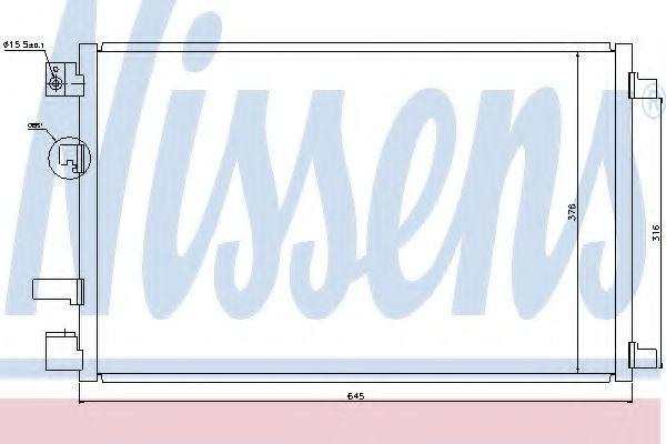 Конденсер кондиціонера Nissens 940040