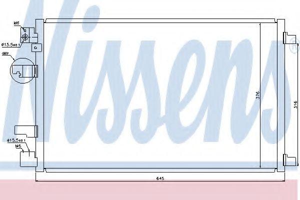 Конденсер кондиціонера Nissens 940041