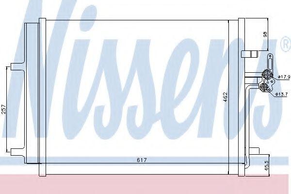 Конденсер кондиціонера Nissens 940043