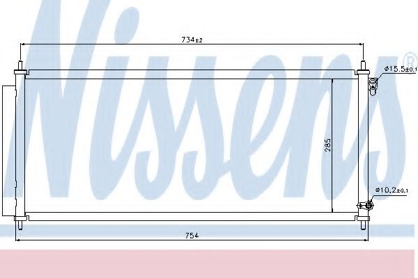 Конденсатор, кондиционер Nissens - 940051