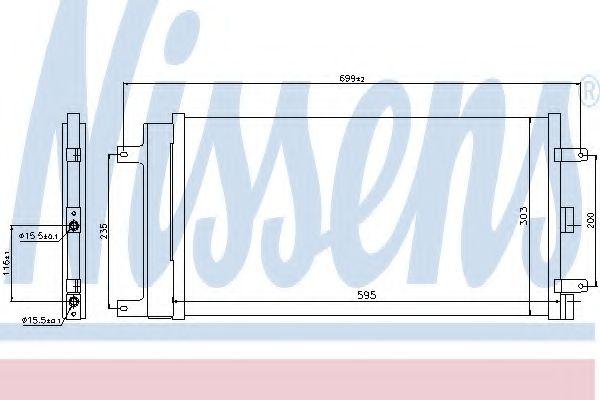 Конденсер кондиціонера Nissens 940061