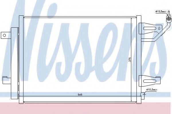 Конденсер кондиціонера Nissens 940067