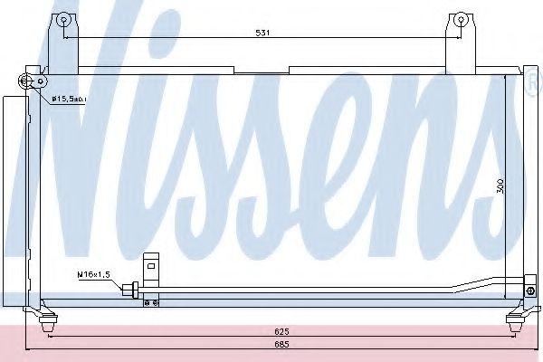 Конденсатор, кондиционер NISSENS арт. 940080