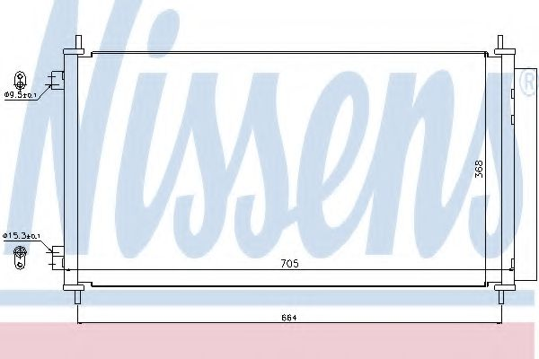Конденсатор, кондиционер NISSENS арт. 940140