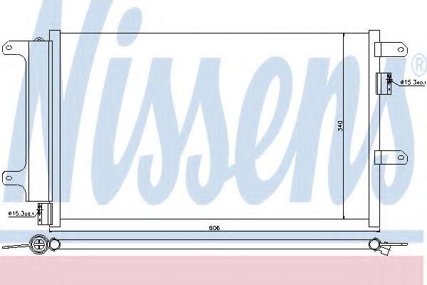 Конденсер кондиціонера Nissens 940141