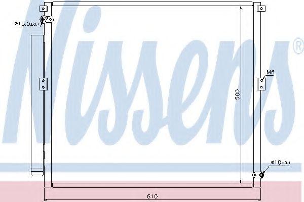Конденсер кондиціонера Nissens 940167